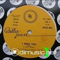 Billie Jean - I Need You - 12 Inches - 1983