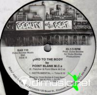 """Point Blank MCs - Hard To The Body - 12"""" - 1985"""