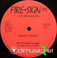 """The 202 Machine - Get Up (Rock Your Body) - 12"""" - 1979"""