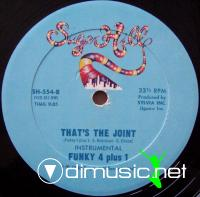 Funky Four Plus one - That's The Joint - 12'' - 1980