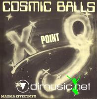 X Point Q – Cosmic Balls-Magma Effectmyx - Single 12'' - 1984
