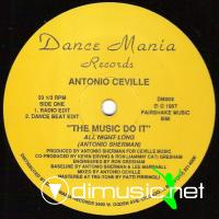Antonio Ceville – The Music Do It (All Night Long) - Single 12'' - 1987