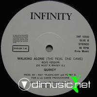 Quincy – Walking Alone (The Real One Came) - Single 12'' - 1986