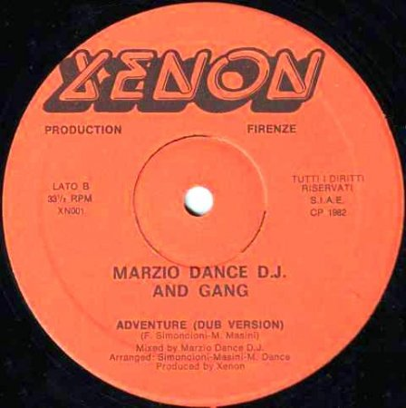 Marzio Dance D.J. and Gang - The Adventure
