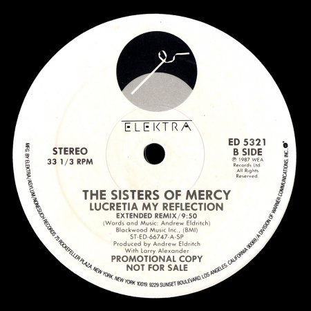 The Sisters of Mercy - Lucretia My Reflection (Promotional version)