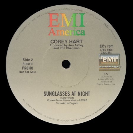 Corey Hart - Sunglasses At Night (US 12'' Promo)