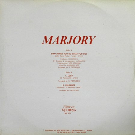 Marjory - Stop (When You Do What You Do)