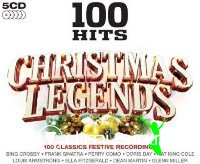 100 Hits Christmas Legends [5 CD] (2010)