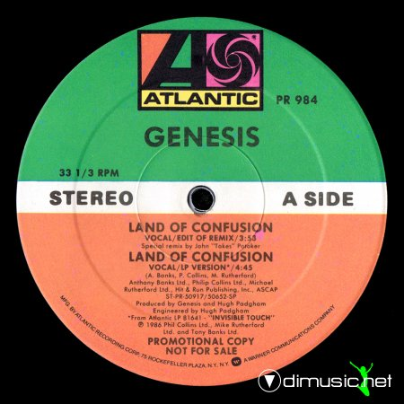 Genesis - Land Of Confusion (US 12'' Promo)