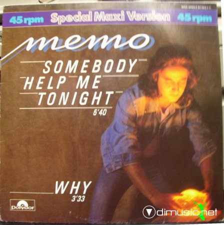 Memo – Somebody Help Me Tonight-Why - Single 12'' - 1984