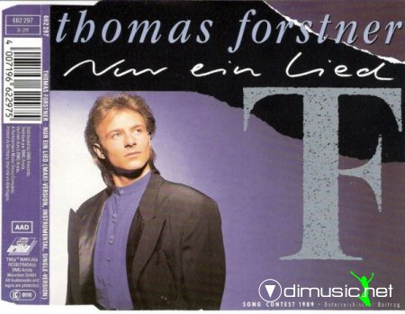 Thomas Forstner -  Nur Ein Lied - Single 12'' - 1989