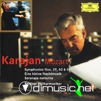 Mozart - Symphonies 39, 40 & 41, A Little Night Music, Divertismento 17, Serenade K   239 (Karajan - Berliner Philharmoniker) (2003)