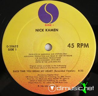Nick Kamen - Each Time You Break My Heart (Maxi)