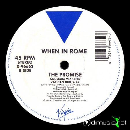 When In Rome - The Promise (O.N. Mix)