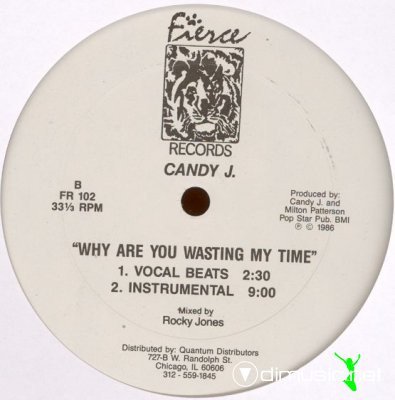 Candy J - Why Are You Wasting My Time (Vinyl, 12'') 1986