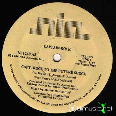 Captain Rock - Capt. Rock To The Future Shock (Vinyl, 12'') 1984
