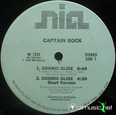 Captain Rock - Cosmic Glide (Vinyl, 12'') 1982