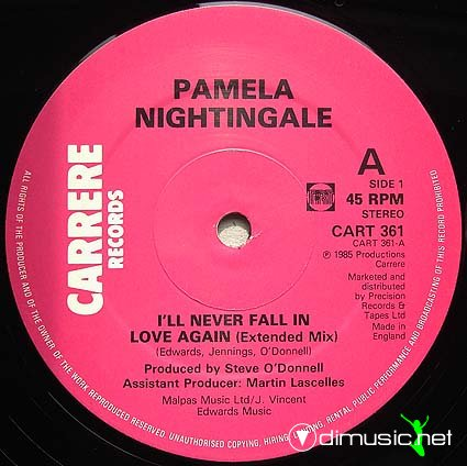 Pamela Nightingale - I'll Never Fall In Love Again