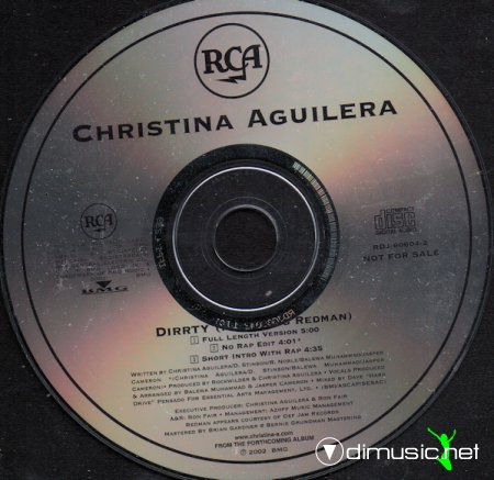 Christina Aguilera - Dirrty (Remixes- accapella, ultimix)2002