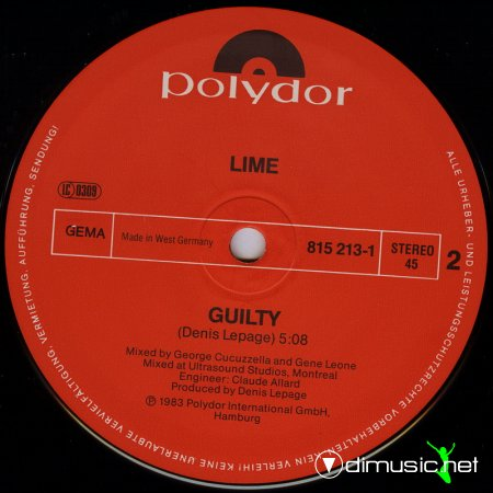 Lime - Guilty (Special New Club-Mix)
