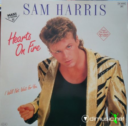 Sam Harris - Hearts On Fire (Vinyl, 12'') 1984