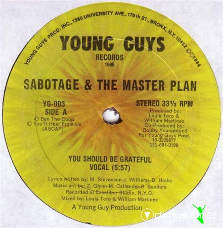 Sabotage & The Master Plan / Sabotage - You Should Be Grateful / Sabotage (Vinyl, 12'') 1985