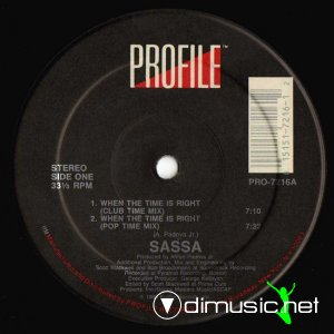Sassa - When The Time Is Right (Vinyl, 12'') 1988