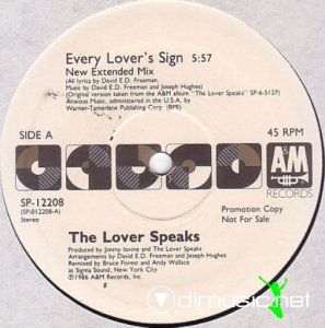 The Lover Speaks - Every Lover's Sign (Vinyl, 12'') 1986