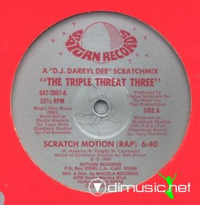 The Triple Threat Three - Scratch Motion (Vinyl, 12'') 1984
