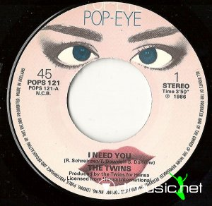 The Twins - I Need You (Vinyl, 7'') 1986