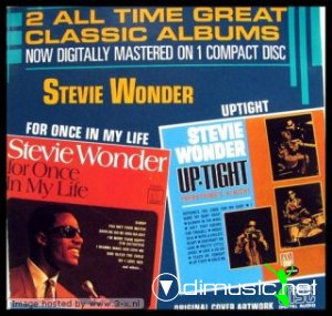 Cover Album of Stevie Wonder - For Once In My Life. Uptight