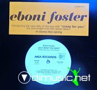 Eboni Foster – Crazy For You - Just What You Want (Promo VLS) (1998)