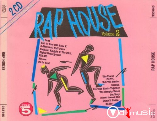 Va rap house volume 2 1990 at odimusic for 1990 house music