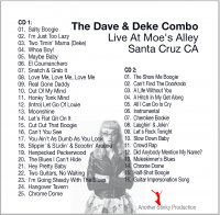 The Dave & Deke Combo - Dave & Deke Combo Live At Moe's Alley x2CD