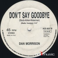 Dan Morrison - Don't Say Goodbye (Vinyl, 12'') 1987